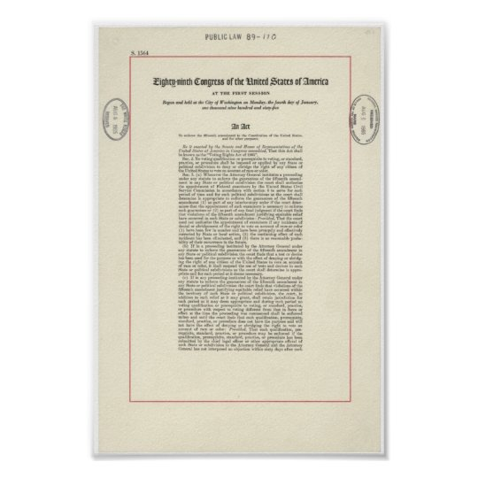 Voting Rights Act Poster