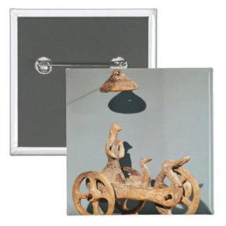 Votive chariot with an anthropomorphic divinity 15 cm square badge