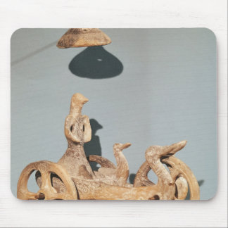 Votive chariot with an anthropomorphic divinity mouse mat