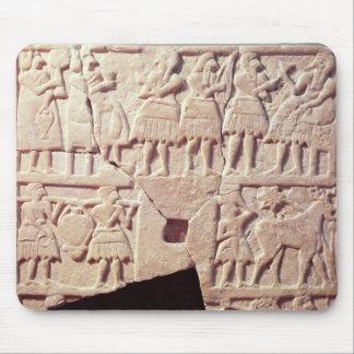 Votive plaque depicting an offering scene mouse pad