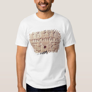 Votive plaque depicting an offering scene tee shirts
