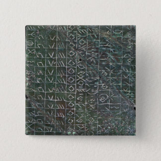 Votive plaque with a venetic inscription 15 cm square badge