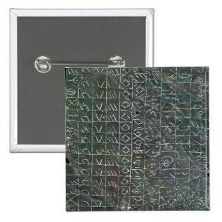 Votive plaque with a venetic inscription 15 cm square badge