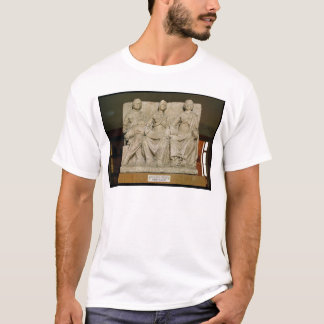 Votive sculpture of a triple mother deity T-Shirt