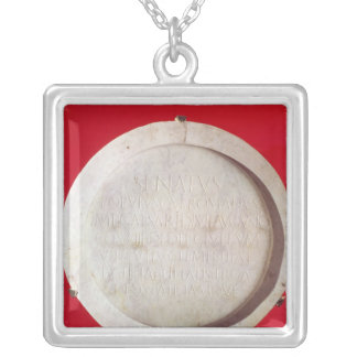 Votive shield in honour of Augustus Silver Plated Necklace