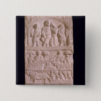 Votive stela dedicated to Sature 15 Cm Square Badge