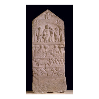 Votive stela dedicated to Sature Poster