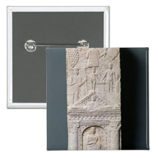 Votive stela dedicated to Saturn 15 Cm Square Badge