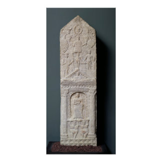 Votive stela dedicated to Saturn Poster