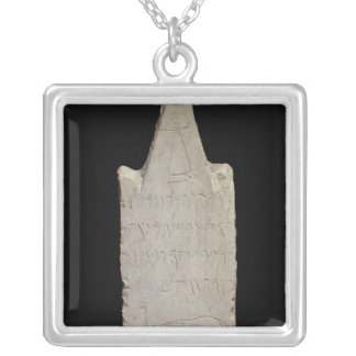 Votive stela with an elephant, from Carthage Silver Plated Necklace
