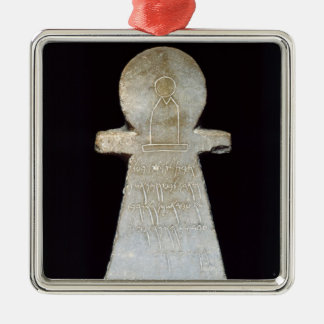 Votive stele, possibly depicting Tanit Christmas Ornament
