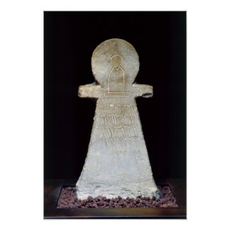 Votive stele, possibly depicting Tanit Poster