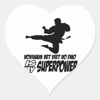 vovinam vet viet dao is my superpower heart sticker