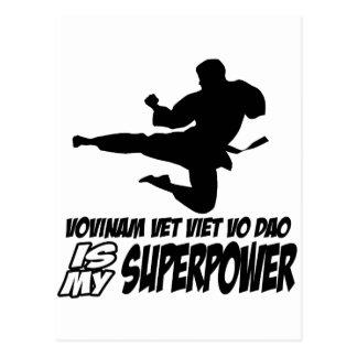 vovinam vet viet dao is my superpower postcard