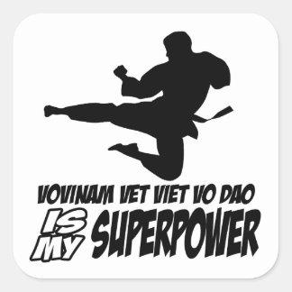 vovinam vet viet dao is my superpower square sticker