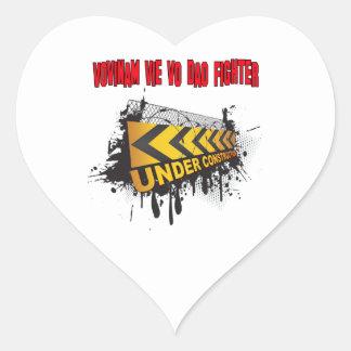 Vovinam vie vo dao Fighter Under Construction Heart Sticker