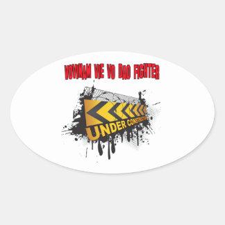 Vovinam vie vo dao Fighter Under Construction Oval Sticker