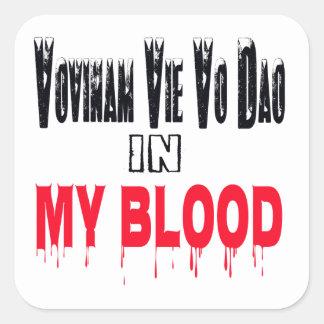 Vovinam vie vo dao In My Blood Square Sticker
