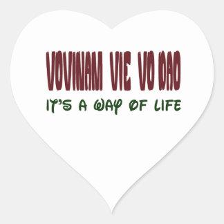 Vovinam vie vo dao It's a way of life Heart Sticker