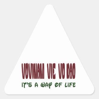 Vovinam vie vo dao It's a way of life Triangle Sticker