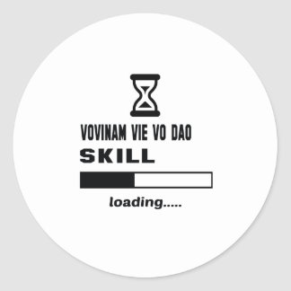 Vovinam vie vo dao skill Loading...... Round Sticker