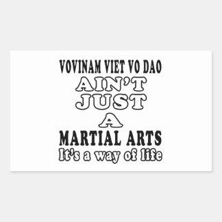 Vovinam Viet vo Dao Ain't Just A Martial Arts Rectangular Sticker