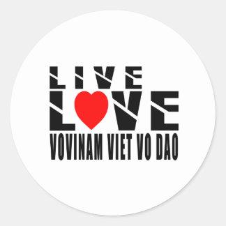 VOVINAM VIET VO DAO. Designs Round Sticker