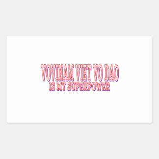 Vovinam Viet vo Dao is my superpower Rectangular Sticker