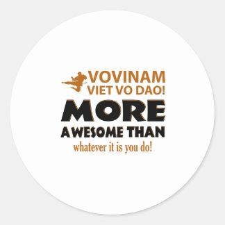 Vovinam Viet Vo Dao Martial arts gift items Round Sticker