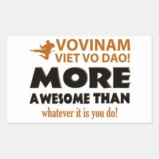 Vovinam Viet Vo Dao Martial arts gift items Rectangular Sticker