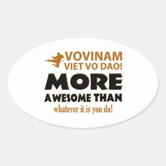 Vovinam Viet Vo Dao Martial arts gift items Oval Sticker