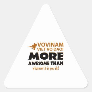 Vovinam Viet Vo Dao Martial arts gift items Triangle Sticker