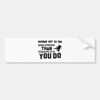 VOVINAM VIET VO DAO MARTIAL arts gifts Bumper Sticker