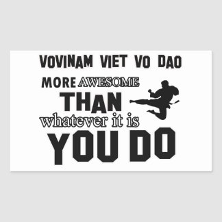 VOVINAM VIET VO DAO MARTIAL arts gifts Rectangle Stickers