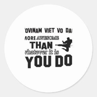 VOVINAM VIET VO DAO MARTIAL arts gifts Round Sticker