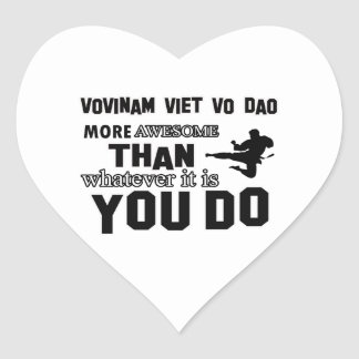 VOVINAM VIET VO DAO MARTIAL arts gifts Heart Stickers