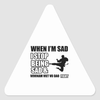 vovinam viet vo dao Martial Arts Gifts Triangle Sticker