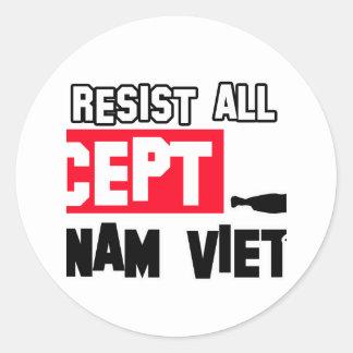 vovinam viet vo dao martial design round sticker