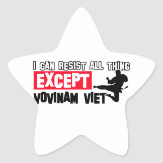 vovinam viet vo dao martial design star sticker