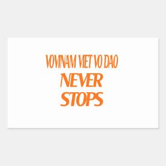 Vovinam Viet vo Dao Never Stops Rectangular Sticker