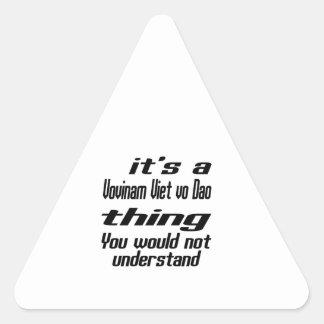 Vovinam Viet vo Dao Thing Designs Triangle Sticker