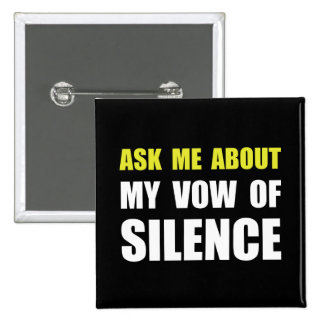 Vow Of Silence 15 Cm Square Badge