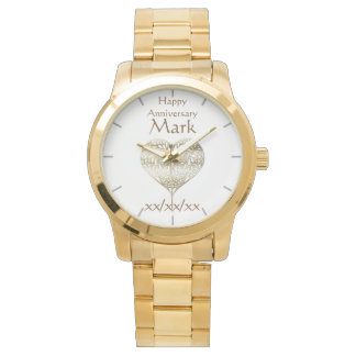 Vow Renewal Anniversary HUSBAND Watch Personalized