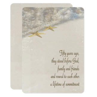Vow Renewal for 50th Anniversary Card