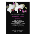 Vow Renewal Invitation -- Orchids and Monogram
