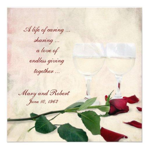Vow Renewal on Wedding Anniversary Invite