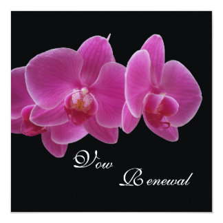 Vow Renewal Purple Orchids Card