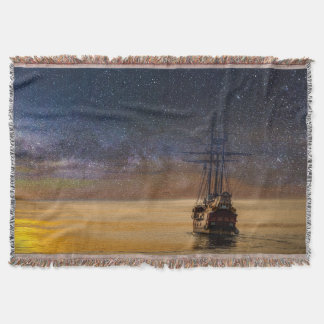 Voyage Among The Stars Throw Blanket