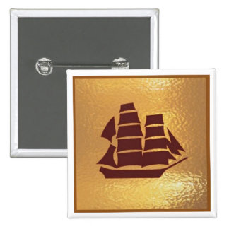 Voyage Boat Ship Holiday Trip - Medal Icon Gold 15 Cm Square Badge
