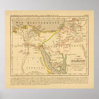 Voyage des Israelites depuis leur sortie d'Egypte Poster